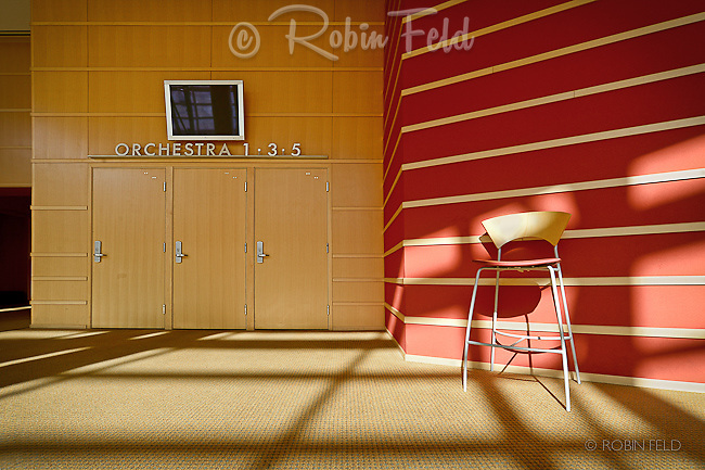 Interior detail at the Schuster Center, Dayton Ohio.