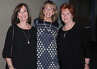 NWA Democrat-Gazette/CARIN SCHOPPMEYER Hannah Lee (from left) Elaine Longer and Bootsie Ackerman visit at Spark of Hope.