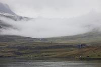 Seyðisfjörður-Fjord, Seydisfjördur-Fjord, Ankunft mit der Fähre auf Island