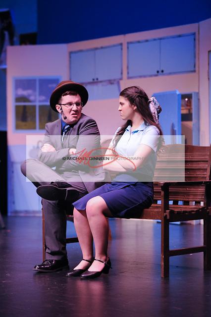 CHS's Albert Peterson as Liam Dooley and ERHS's  Nichole Vasquez perform together.