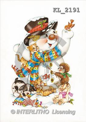 Interlitho, Michele, CHRISTMAS SANTA, SNOWMAN, paintings, snowman, animals(KL2191,#X#) stickers Weihnachtsmänner, Schneemänner, Weihnachen, Papá Noel, muñecos de nieve, Navidad, illustrations, pinturas