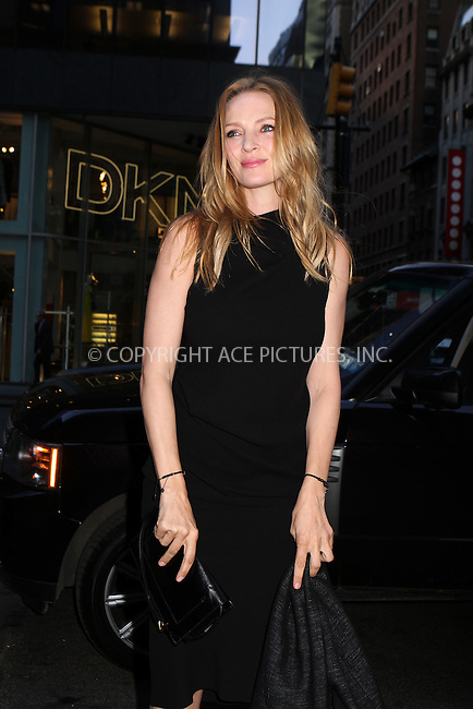 WWW.ACEPIXS.COM....April 17 2013, New York City....Actress Uma Thurman arriving at the HRC Marriage for Equality USA celebration at the Calvin Klein Boutique on April 17, 2013 in New York City.....By Line: Nancy Rivera/ACE Pictures......ACE Pictures, Inc...tel: 646 769 0430..Email: info@acepixs.com..www.acepixs.com