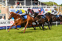 Winner of The Smith & Williamson Handicap (Class 6)     Ablaze ridden by Edward Greatex and trained by Laura Mongon during Afternoon Racing at Salisbury Racecourse on 17th May 2018