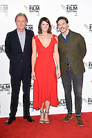 "Bill Nighy, Gemma Arterton and Sam Claflin<br /> at the London Film Festival photocall for ""Their Finest"", Mayfair Hotel, London.<br /> <br /> <br /> ©Ash Knotek  D3177  13/10/2016"