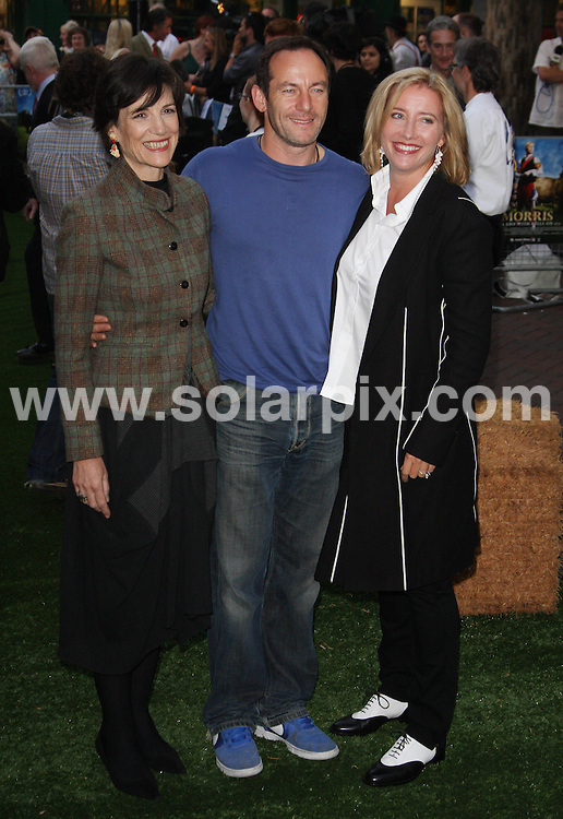 """**ALL ROUND PICTURES FROM SOLARPIX.COM**.**WORLDWIDE SYNDICATION RIGHTS**.arrivals at the UK Premiere of """"Morris, A life With Bells On"""" at the Prince Charles Cinema, Leicester Square, London, UK. 24 September 2009..This pic: Harriet Walter, Jason Issacs and Emma Tompson..JOB REF: 10016 LNJ     DATE: 24_09_2009.**MUST CREDIT SOLARPIX.COM OR DOUBLE FEE WILL BE CHARGED**.**MUST NOTIFY SOLARPIX OF ONLINE USAGE**.**CALL US ON: +34 952 811 768 or LOW RATE FROM UK 0844 617 7637**"""