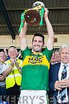 Kerry Captain Bryan Sheehan with the cup after defeatingTipperary in the Senior Munster Football Final at Fitzgerald Stadium, Killarney on Sunday.