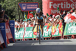 Ben Gastauer (LUX) AG2R La Mondiale crosses the finish line in 5th place at the end of Stage 4 of the La Vuelta 2018, running 162km from Velez-Malaga to Alfacar, Sierra de la Alfaguara, Andalucia, Spain. 28th August 2018.<br /> Picture: Colin Flockton   Cyclefile<br /> <br /> <br /> All photos usage must carry mandatory copyright credit (&copy; Cyclefile   Colin Flockton)