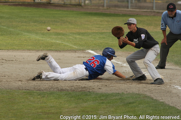 Northern California vs. Washington in game 14 of the 2015 West Central District 2 BLBB playoffs at Blue Jacket Stadium in Silverdale Washington. ©2015. Jim Bryant photo. All Rights Reserved.