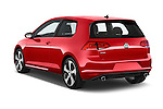 Car pictures of rear three quarter view of a 2015 Volkswagen GTI DSG 2 Door Hatchback Angular Rear