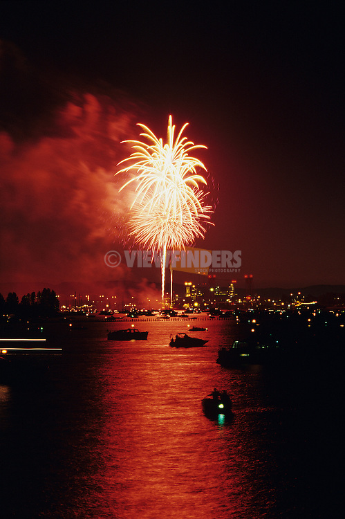 Ft. Vancouver fireworks over the Columbia River