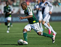 CARSON, CA - June 17, 2012: Portland Timbers midfielder Darlington Nagbe (6) during the LA Galaxy vs Portland Timbers match at the Home Depot Center in Carson, California. Final score LA Galaxy 1, Portland Timbers 0.