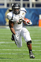 31 October 2009:  FIU running back Daunte Owens (8) carries the ball in the fourth quarter as the FIU Golden Panthers defeated the Louisiana-Lafayette Ragin' Cajuns, 20-17, in overtime at FIU Stadium in Miami, Florida.