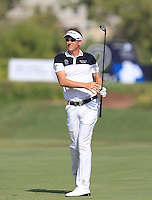 Ian Poulter (ENG) on the 2nd fairway during the preview for the DP World Tour Championship at the Earth course,  Jumeirah Golf Estates in Dubai, UAE,  18/11/2015.<br /> Picture: Golffile | Thos Caffrey<br /> <br /> All photo usage must carry mandatory copyright credit (&copy; Golffile | Thos Caffrey)