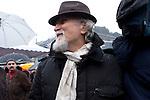 Italia, Milano, Piazza Castello, 13/02/2011,Moni Ovadia alla  manifestazione delle donne Se Non ora quando, donne, Women demonstration against Berlusconi and Rubygate