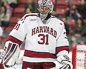 Merrick Madsen (Harvard - 31) - The Harvard University Crimson defeated the visiting Colgate University Raiders 7-4 (EN) on Saturday, February 20, 2016, at Bright-Landry Hockey Center in Boston, Massachusetts,