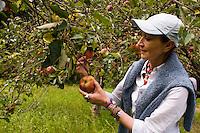 Mexican Chef Patricia Quintana in an orchard in Zacatlan de las Manzanas, Puebla, Mexico.