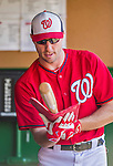 22 August 2015: Washington Nationals pitcher Max Scherzer prepares a bat for batting practice prior to a game against the Milwaukee Brewers at Nationals Park in Washington, DC. The Nationals defeated the Brewers 6-1 in the second game of their 3-game weekend series. Mandatory Credit: Ed Wolfstein Photo *** RAW (NEF) Image File Available ***