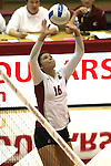 Renee Bordelon (#16) is shown during a Washington State volleyball match at Bohler Gym in Pullman, Washington, on September 11, 2009.