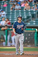 Travis Snider (16) of the Reno Aces bats against the Salt Lake Bees at Smith's Ballpark on June 26, 2019 in Salt Lake City, Utah. The Aces defeated the Bees 6-4. (Stephen Smith/Four Seam Images)