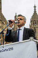 Sadiq Khan MP (Labour Member of Parliament for Tooting and Shadow Secretary of State for Justice, Shadow Lord Chancellor and Shadow Minister for London).<br />