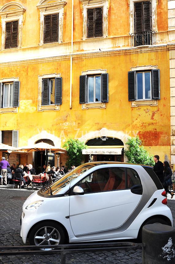 Rome - Editorial<br /> Smart car , city view