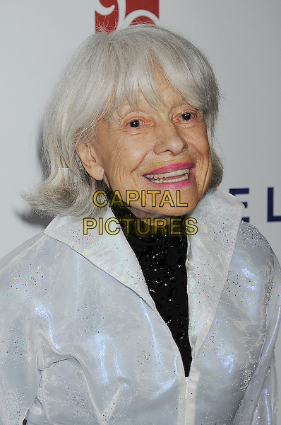 "Carol Channing.The 6th Annual ""A Fine Romance"" Event Held At Sony Pictures Studios, Culver City, California, USA, 15th October 2011..headshot portrait black white grey gray.CAP/ROT/TM.©Tony Michaels/Roth Stock/Capital Pictures"