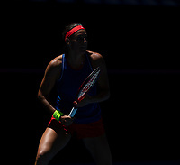 8th November 2019; RAC Arena, Perth, Western Australia, Australia; Fed Cup by BNP Paribas Final Tennis, Australia versus France, Practice Day; Caroline Garcia of France during practise - Editorial Use