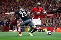 Paul Pogba  Manchester e Pierre-Emile Hojbjerg Southampton <br /> Manchester 19-08-2016<br /> Premier League,<br /> Manchester United - Southampton <br /> Foto Darren Staples/Panoramic/Insidefoto