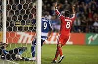 Santa Clara, California - May 7, 2014: The San Jose Earthquakes face off against FC Dallas at Buck Shaw Stadium on Saturday.