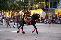 Latin Dancing Horses of Washington, Seafair Torchlight Parade, Seattle, WA, USA.