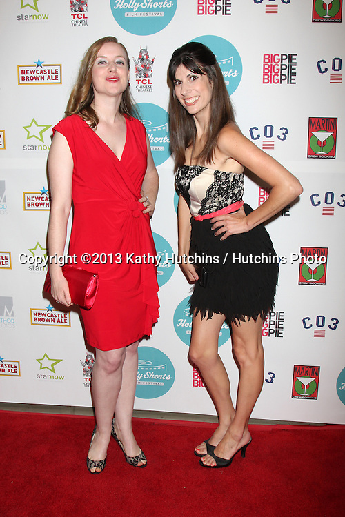 LOS ANGELES - AUG 17:  Marion Kerr, Lauren Mora at the HollyShorts Film Festival  at the TCL Chinese 6 Theaters on August 17, 2013 in Los Angeles, CA