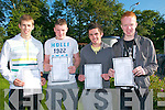 Leaving certificate students from St Michael's College, Listowel who received there results on Wednesday morning ; Eamonn McKenna, Conor Cox, David Enright & John Kennedy.