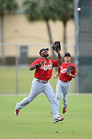 St. Louis Cardinals outfielder Anthony Garcia (44) during a minor league spring training intrasquad game on March 28, 2014 at the Roger Dean Stadium Complex in Jupiter, Florida.  (Mike Janes/Four Seam Images)