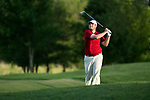 SUGAR GROVE, IL - MAY 29: Jonathan Hardee of the University of Alabama hits an approach shot during the Division I Men's Golf Individual Championship held at Rich Harvest Farms on May 29, 2017 in Sugar Grove, Illinois. (Photo by Jamie Schwaberow/NCAA Photos via Getty Images)