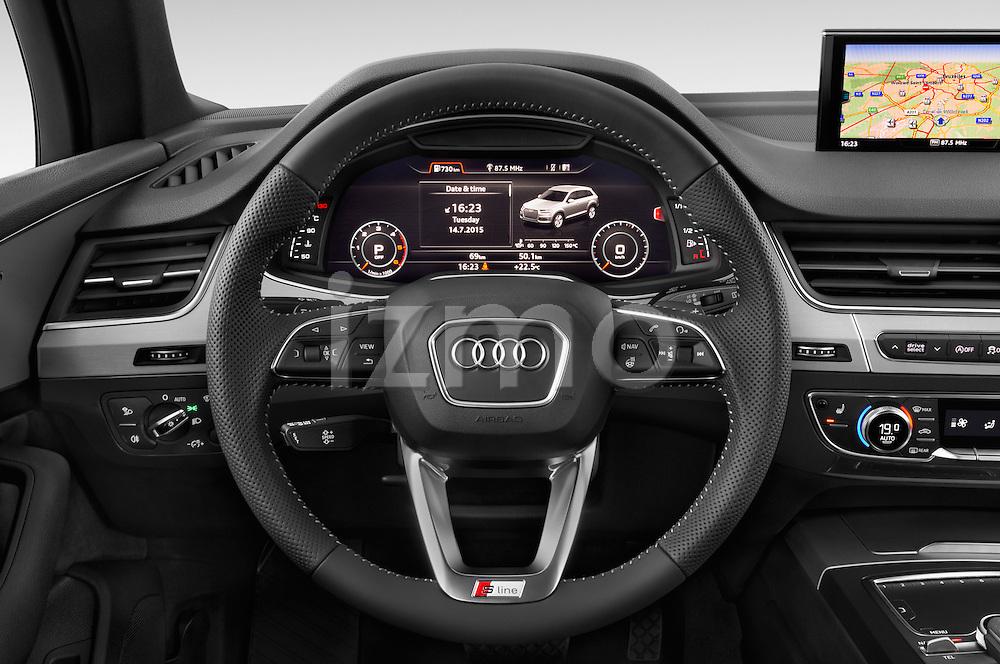 Car pictures of steering wheel view of a 2016 Audi Q7 S Line 5 Door Suv Steering Wheel
