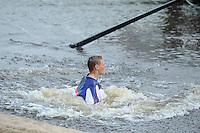 FIERLJEPPEN: JOURE: Accommodatie Koarte Ekers, Fierljepvereniging De Lege Wâlden Joure, 23-06-2012, 1e Klas wedstrijd, Junioren A, Sytse Bokma, ©foto Martin de Jong
