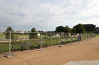 WASHINGTON D.C. - JUNE 27: View of fencing installed around the Washington Monument to limit Fourth of July crowds in Washington D.C. on June 27, 2020. Credit: mpi34/MediaPunch<br /> CAP/MPI43<br /> ©MPI43/Capital Pictures