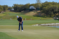 Jon Rahm (ESP) watches his putt on 12 during round 1 of the World Golf Championships, Dell Match Play, Austin Country Club, Austin, Texas. 3/21/2018.<br /> Picture: Golffile | Ken Murray<br /> <br /> <br /> All photo usage must carry mandatory copyright credit (&copy; Golffile | Ken Murray)