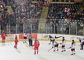 Dawson Creek, BC - Dec 15 2019: Game 14 Gold - Canada East vs Russia at the 2019 World Junior A Championship at the ENCANA Event Centre in Dawson Creek, British Columbia, Canada. (Photo by Matthew Murnaghan/Hockey Canada)