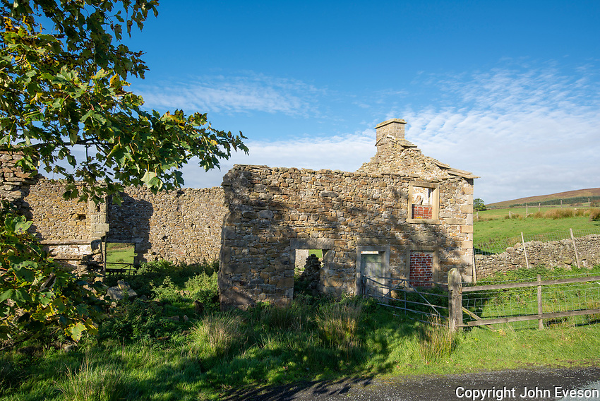 Derelict farm house, Lane Side, Slaidburn, Lancashire.