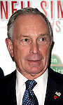 "Mayor Michael Bloomberg.arriving for the Opening Night of Neil Simon's ""Bighton Beach Memoirs""  at the Nederlander Theatre in New York City..October 25, 2009.© Walter McBride /"
