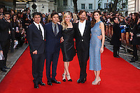 Hossein Amini, Oscar Issac, Kirsten Dunst, Viggo Mortensen, Daisy Bevan at the Two Faces Of January - UK film premiere held at the Curzon Mayfair, London. 13/05/2014 Picture by: Henry Harris / Featureflash