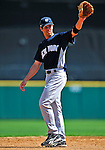 11 March 2009: New York Yankees' infielder Justin Leone warms up prior to a Spring Training game against the Detroit Tigers at Joker Marchant Stadium in Lakeland, Florida. The Tigers defeated the Yankees 7-4 in the Grapefruit League matchup. Mandatory Photo Credit: Ed Wolfstein Photo