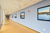 Yale-New Haven Health Park Avenue Medical Center. Architect: Shepley Bulfinch. Contractor: Gilbane Building Company, Glastonbury, CT. James R Anderson Photography, New Haven CT photog.com. Date of Photograph 4 May 2016  Submission 25  © James R Anderson. Third Floor, West Side Hallway, with Art Work.