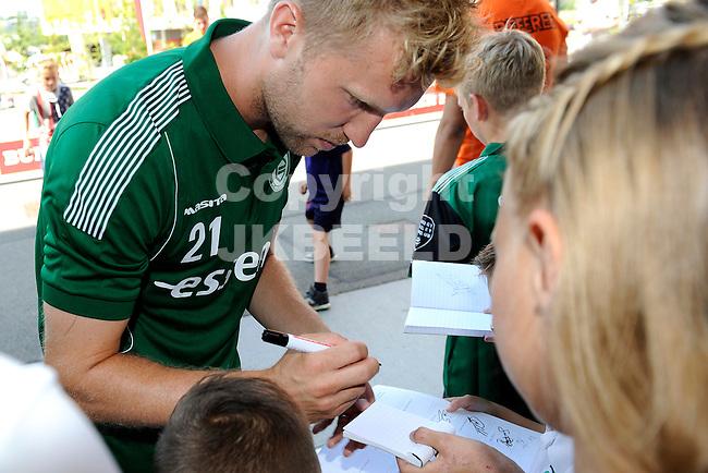 GRONINGEN - Voetbal, Open dag FC Groningen, Euroborg, seizoen 2014-2015, 02-08-2014,  FC Groningen speler Rasmus Lindgren