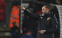 23rd November 2019; Vitality Stadium, Bournemouth, Dorset, England; English Premier League Football, Bournemouth Athletic versus Wolverhampton Wanderers; Nuno Espirito Santo Manager for Wolverhampton Wanderers acknowledges the fans after the match - Strictly Editorial Use Only. No use with unauthorized audio, video, data, fixture lists, club/league logos or 'live' services. Online in-match use limited to 120 images, no video emulation. No use in betting, games or single club/league/player publications
