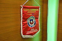 East Rutherford, NJ - Sunday June 26, 2016: Chile locker room prior to a Copa America Centenario finals match between Argentina (ARG) and Chile (CHI) at MetLife Stadium.