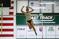 WINSTON-SALEM, NC - FEBRUARY 07: Haidyn Turner of Wake Forest University clears the crossbar in the Women's Pole Vault at JDL Fast Track on February 07, 2020 in Winston-Salem, North Carolina.