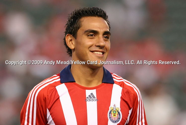 22 August 2009: Chivas USA's Jesus Padilla. CD Chivas USA played Toronto FC at the Home Depot Center in Carson, California in a regular season Major League Soccer game.