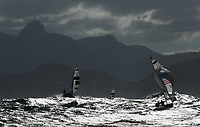 RIO DE JANEIRO, BRAZIL - AUGUST 11:  Stuart McNay and Dave Hughes of the United States compete in the Men's 470 class on Day 6 of the Rio 2016 Olympics at Marina da Gloria on August 11, 2016 in Rio de Janeiro, Brazil.  (Photo by Ezra Shaw/Getty Images)